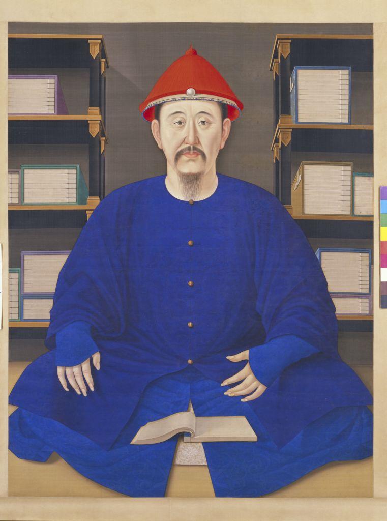 康熙帝读书像轴